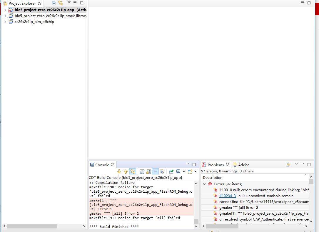 请问这个simplelink_cc26x2_sdk_2_30_00_34里的例程编译有错误是