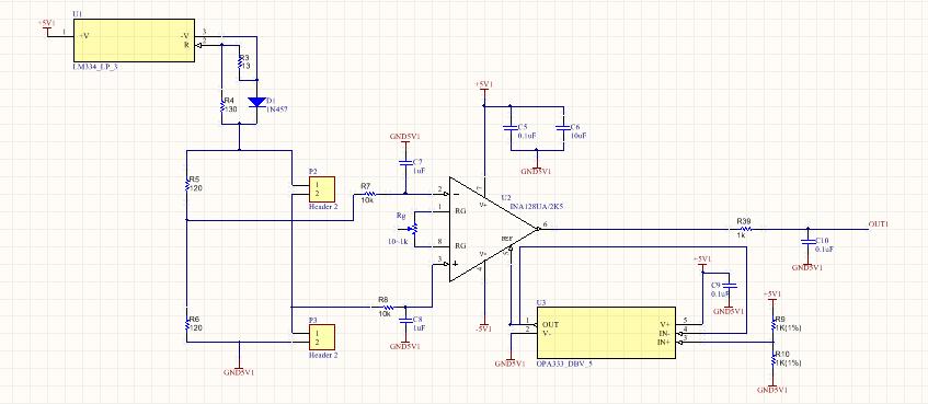 在用ina128放大器调试应变电路过程中,加参考电压为2.