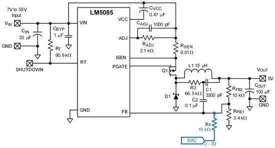 稳压器动态控制输出电压