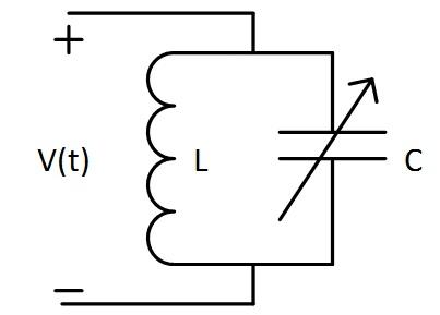 简单lc谐振槽路的电路原理图