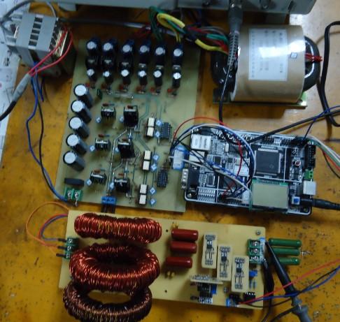 大学单项并联逆变电路板连接图