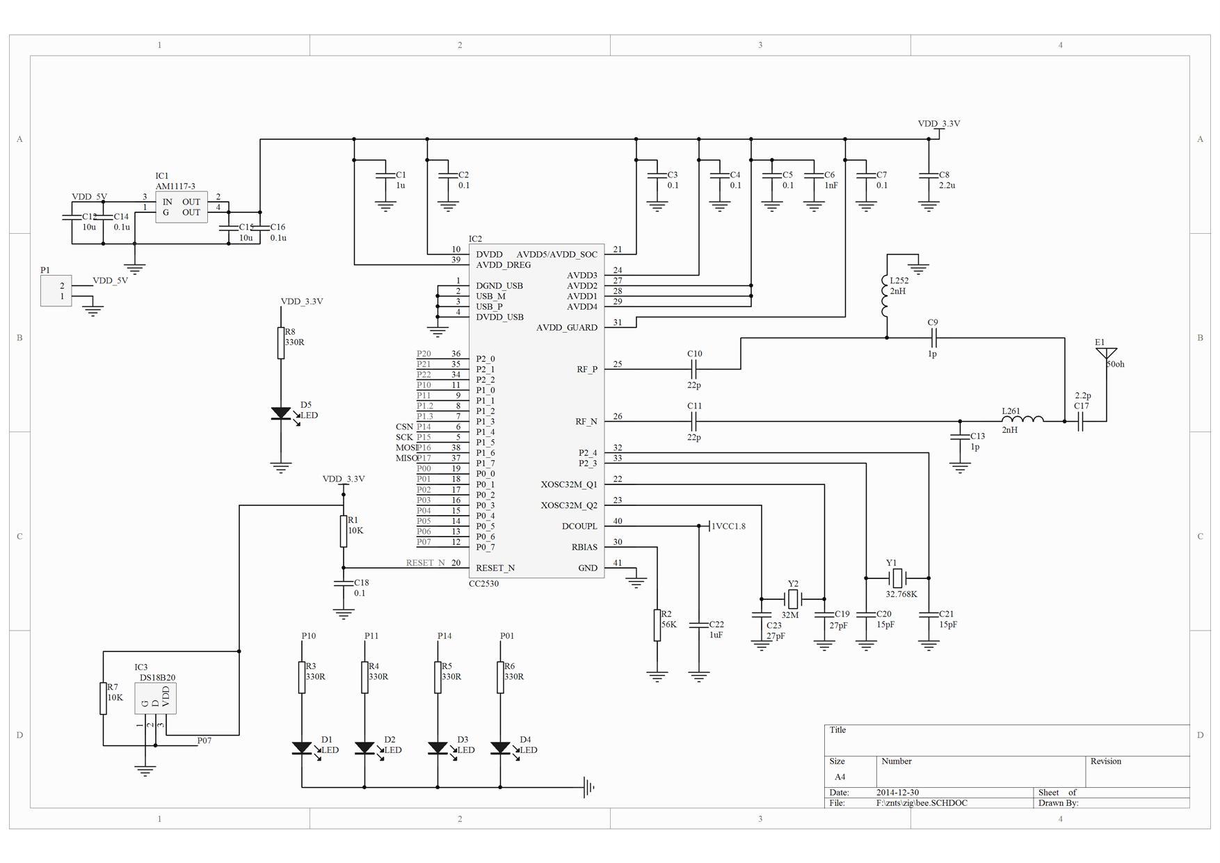 请教各位!zigbee 终端cc2530 p06脚不接高电平为什么加入不了网络?