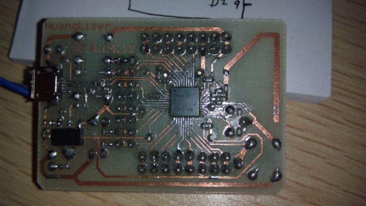 纯手工制作的cc2531最小系统板
