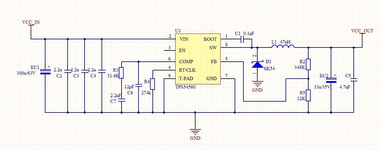 做了一个dcdc降压模块