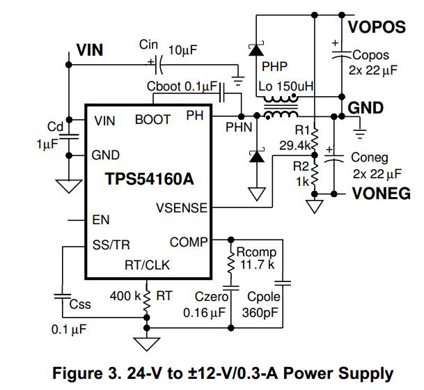 电源管理 24伏单电源变正负十二伏双电源