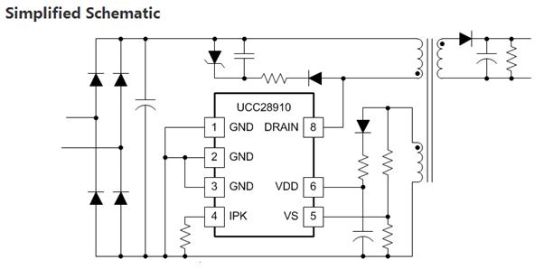 buck芯片ucc28910 ,ucc28880