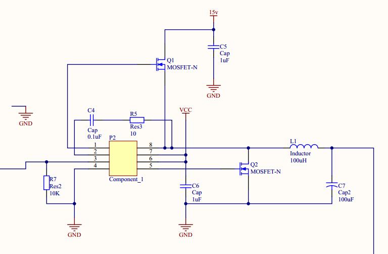 tps28225做buck电路,ugate端mos管漏极接电源时,ugate输出的斩波波形
