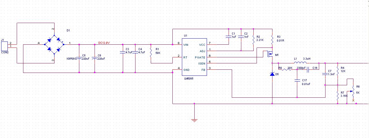 lm5085的长时间工作下的输出电压不稳定的问题