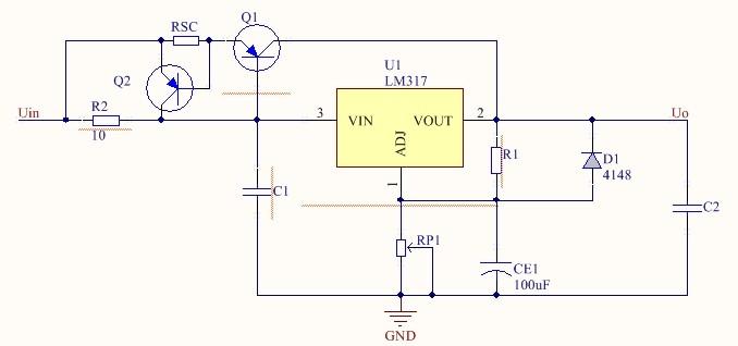 单管扩流电路如下图所示
