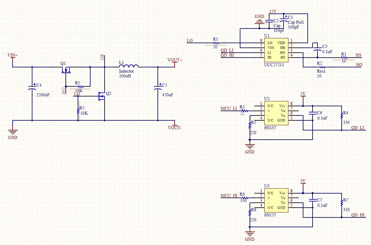 博客文章 模拟与混合信号 电源管理 ucc27211相关电路的疑问  光耦