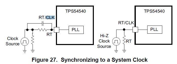 技术论坛 模拟与混合信号 电源管理 tps54540/tps54340外部时钟同步