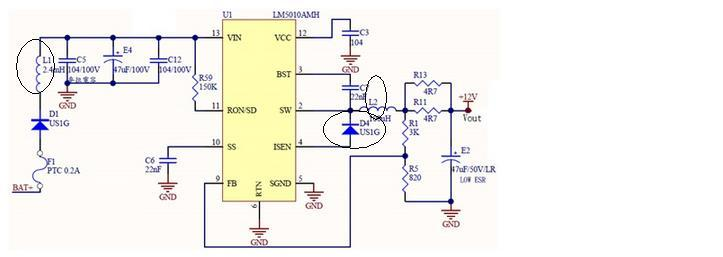 buck型降压电路