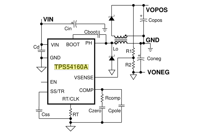 楼主的疑问是:<span>先在做一块电路板,里面有24v供电的芯片,也有正负12v供电的芯片,整个板子是24电源供电,怎么用24v电源给正负12v电源供电呢 ?</span></p> <p>在看到这个帖子的时候,作为一个回答问的人来说,我也是不会到怎样回答,因为没有具体的描述出是多大功率范围的,一般我们根据功率的大小来进行对拓扑的选择,这个也不是唯一的方法,只不过一般是这样的,对于多路输出,有很多的方案可供选择,有隔离的和非隔离的,一般对于这种,用反激变换器就可以解决。这个