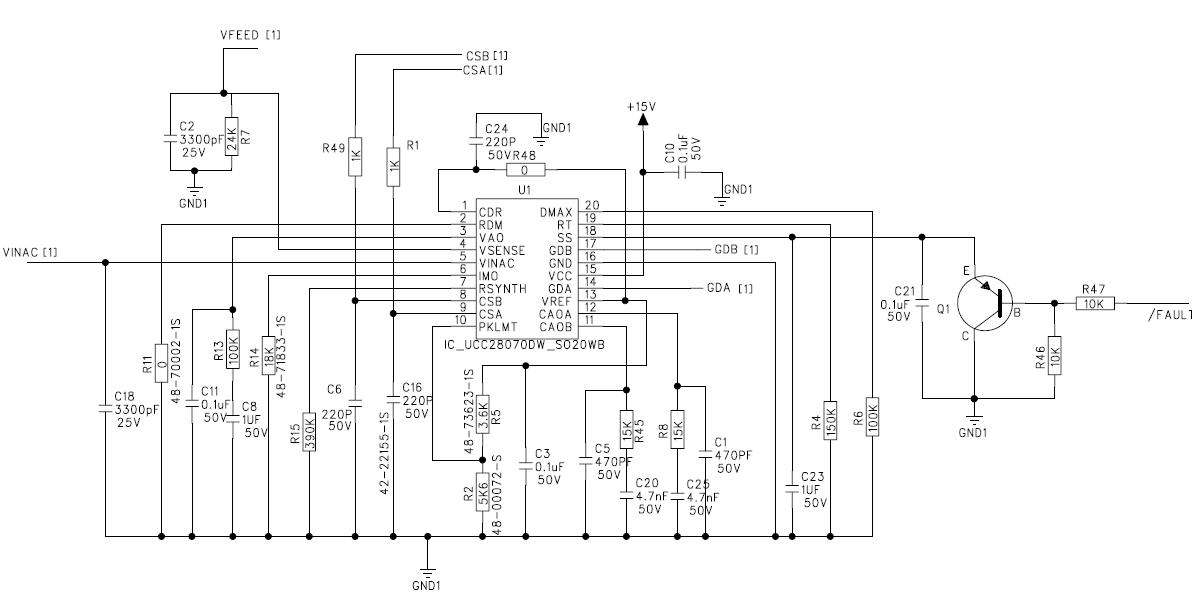 技术论坛 模拟与混合信号 电源管理 ucc28070低压工作,输入电流和电压