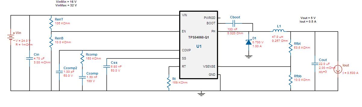 tps54060-q1如何设置外围器件