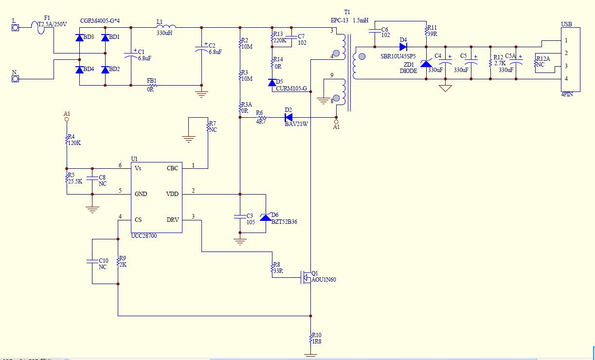 通过测量vdd的旁侧电路cdd的电压才到14v左右.