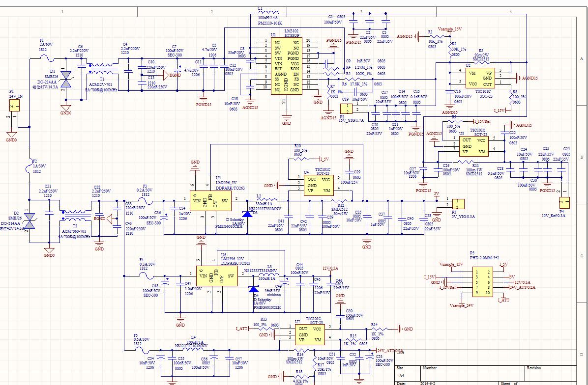 2596 12v转5v电路图