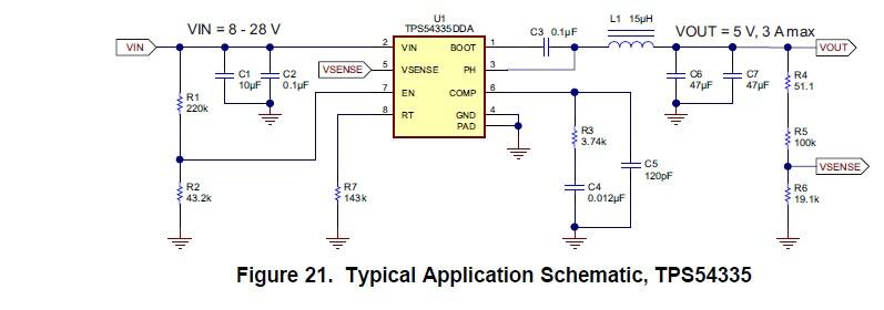 关于tps54335电源芯片的问题