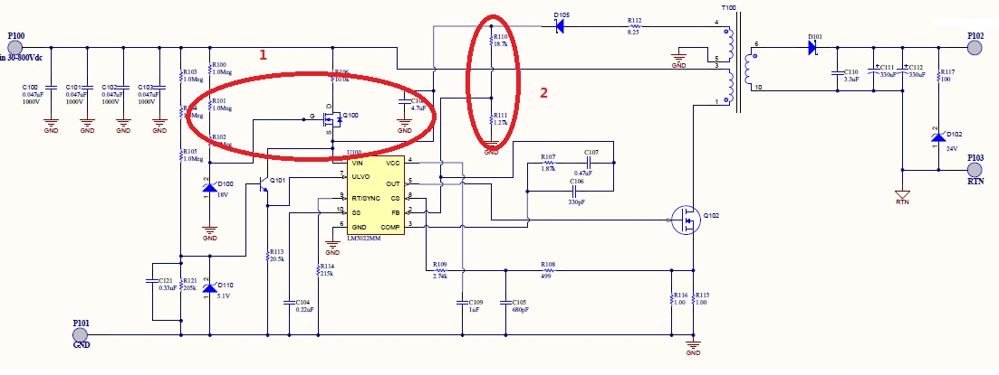 lm5022实现12v到270v宽电压输入隔离电源设计