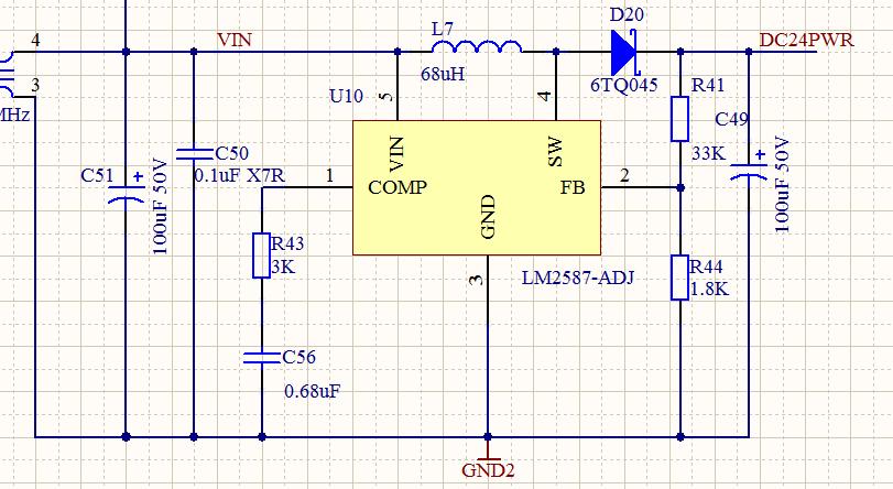 lm2587输入电压下降,输出电压随之降低