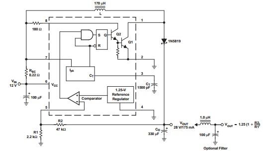 关于mc34063a的输出电路的学习