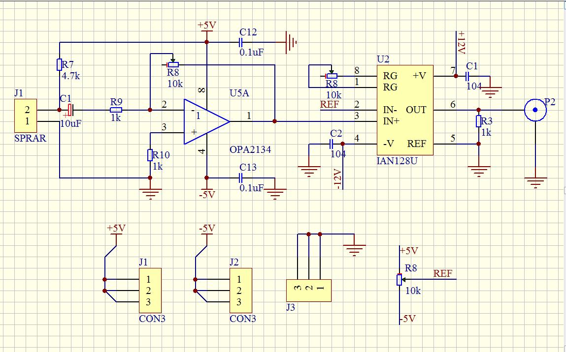 拾音电路的输出波形会被一个工频信号调制了额