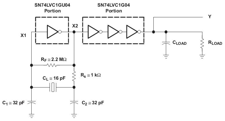 另外建议自己搭建皮尔斯振荡器时建议使用下图电路