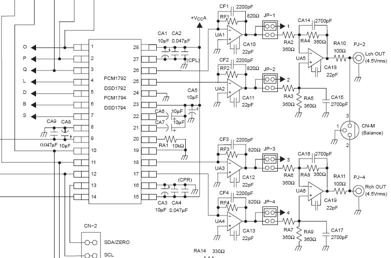 要求pcm1792adbr出来的电流i经过i/v电路后