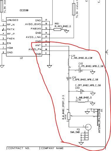 对于cc2xxx系列来说,输出阻抗匹配都是50欧姆,但是在cc2590.