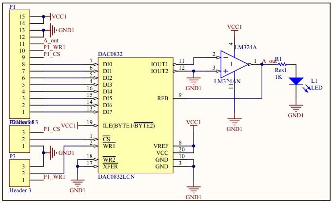 数模转换后的电流信号进行电压转换