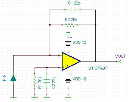 【原创】+光电二极管前置放大电路