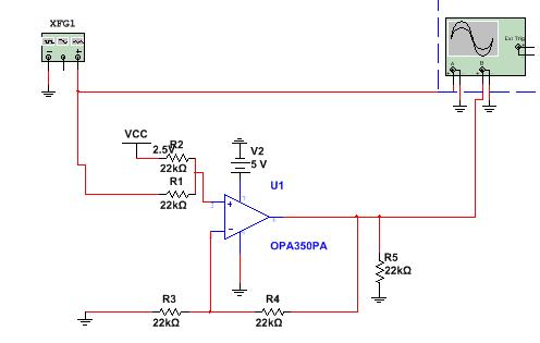 电路搭建出来测试,从示波器上看明显有2us的误差延时