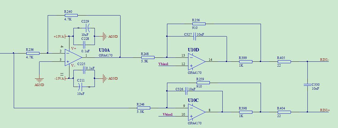 运放双电源供电和滤波