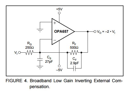 怎么消除ad657放大电路的幅频曲线凸起的地方