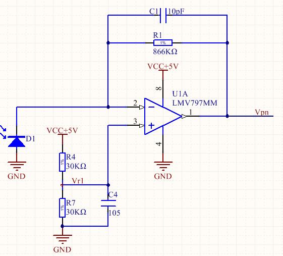 在排除了si光电二极管的问题后,使用fluke5700a恒流源对电路进行高