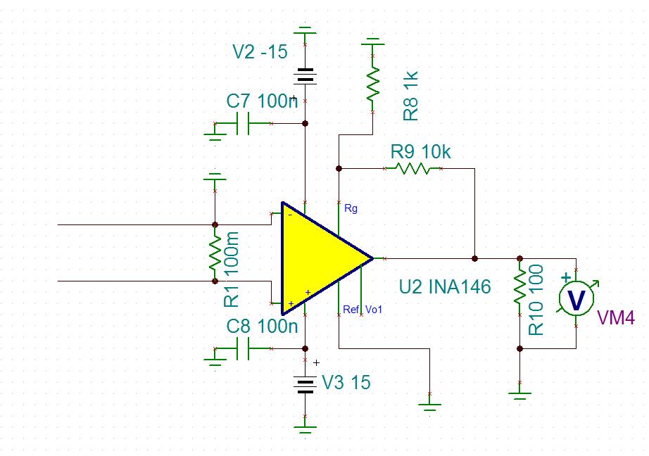 差动放大器ina146的输入问题