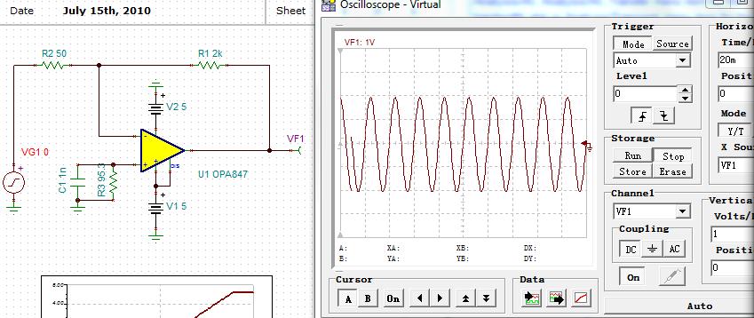 此处输入信号50mv-vpp正弦波