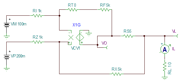 电路输出电流与