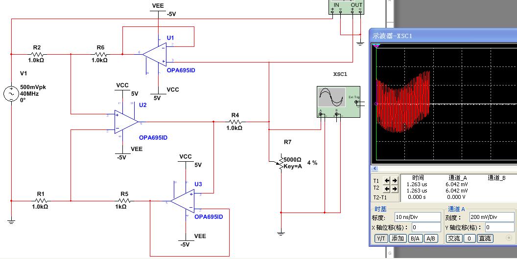 高频运放自激振荡