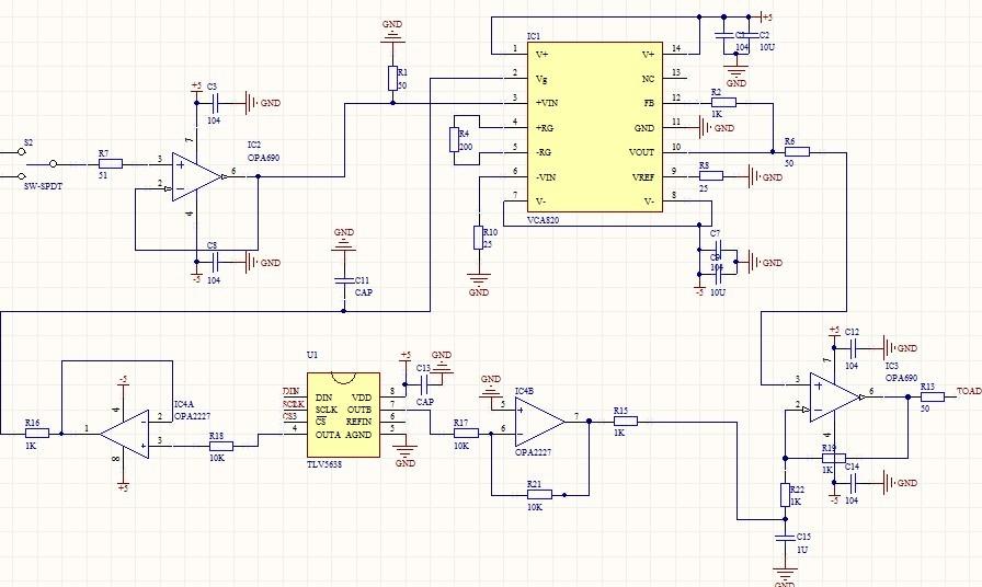 vca820典型电路