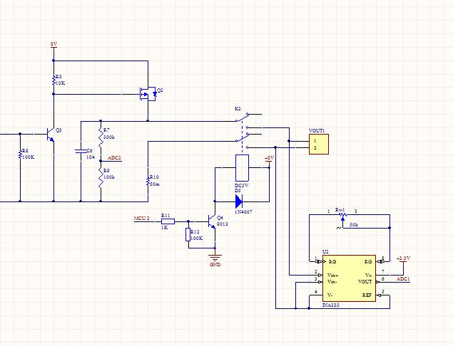 关于单电源仪表放大器ina333的使用问题?