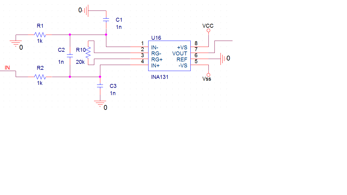 ina131仪用放大器能否两输入端接仪器作为同一探测信号的输入?