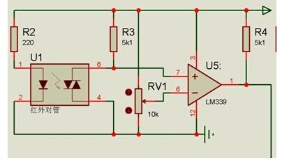 模拟与混合信号 放大器 【原创】红外循迹传感器的设计  原理图
