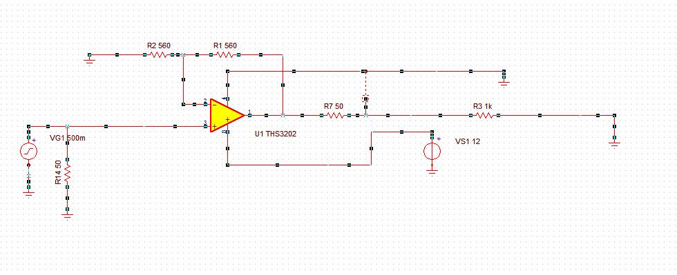 """运放使用的是单电源供电,供电电压是12V,pcb是自己画的,在画的时候没有把芯片下面的内电层的地挖空。这可能影响到带宽,但是我觉得不应该1MHz就出现失真了,大于1MHz,信号就开始衰减。<a href=""""/cfs-file.ashx/__key/communityserver-discussions-components-files/52/4237."""
