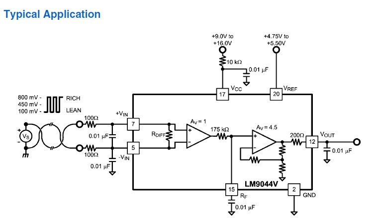 我在TI产品介绍中看到LM9044的典型应用  我想问一下: 1、LM9044输入端前面加的两个0.01uF的作用是什么,之前在用INA118的时候输出老是会衰退就在VIN+和VIN-之间加了个很小的电容,效果好多了? 2、有没有什么资料介绍这一块的(放大器信号源的要求,比如信号源内阻要求,输入端的电路设计之类的),也不知道是自己理论知识不足还是实际 应用操作的少,一个简单的电路,感觉好像理论上可行就是经不起实际的检验。 求指教