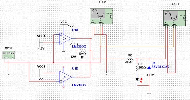 我用multisim仿真,线与的oc门输出高电平为6v