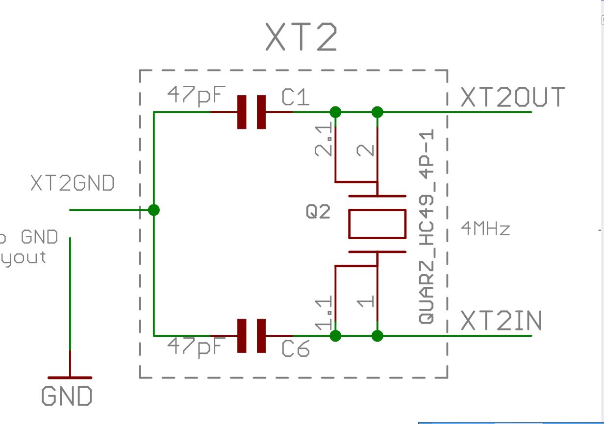 "<a href=""http://www.ti.com.cn/tool/cn/MSP-EXP430F5529"" target=""extwin"">MSP-EXP430F5529</a>这块板的高速晶振是XT2=4M,需要测量频率脉宽,想把SMCLK和MCLK提高25M,但是这块板子晶振只有XT2=4M,用PLL将SCLK,和MCLK提高的25M了,但是发现出来的时钟不是很准确,所以现在把高速晶振XT2换成25M的,想问问TI的工程师,再换的时候有没有需要"