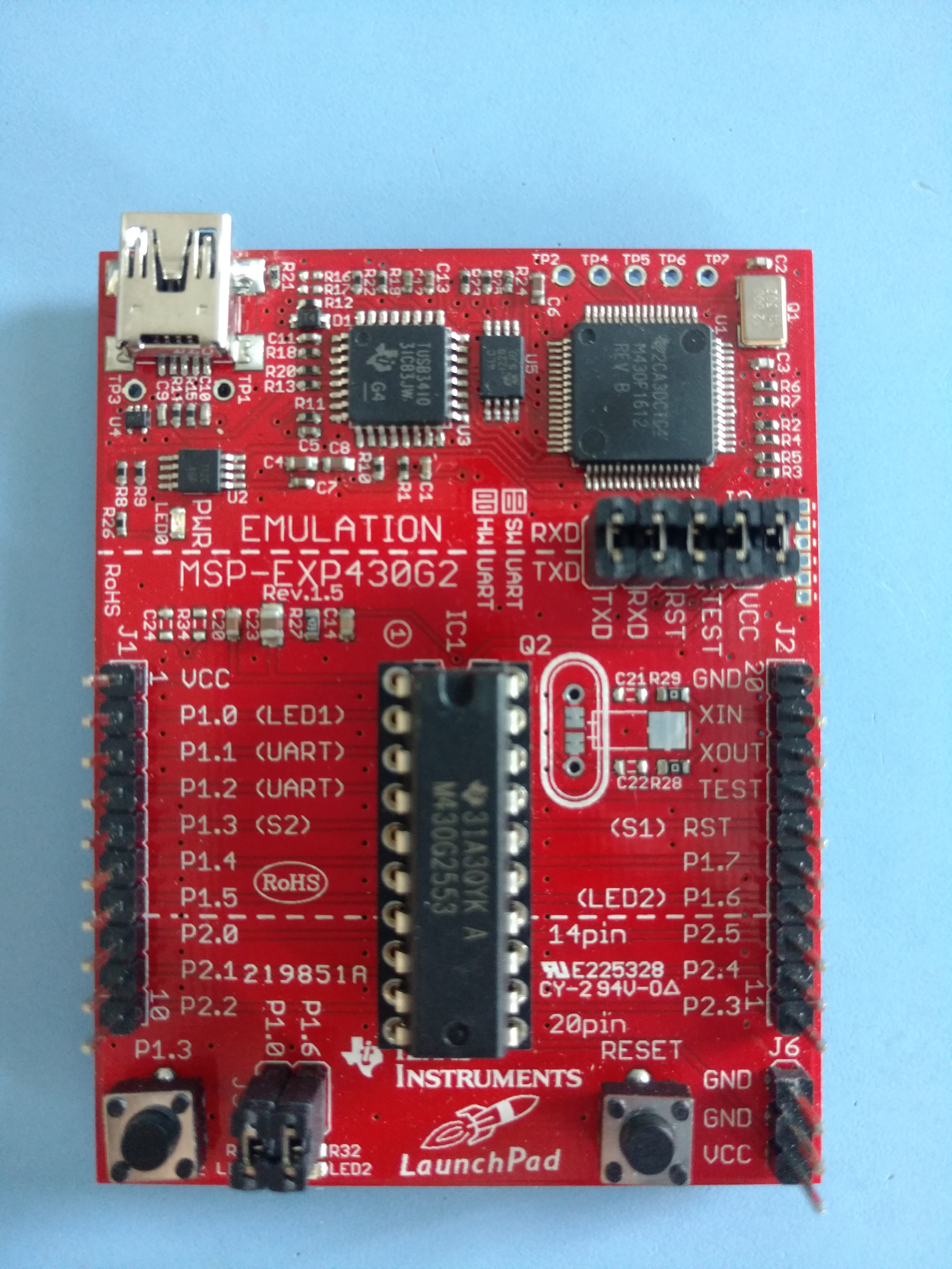 msp430 g2553 launchpad