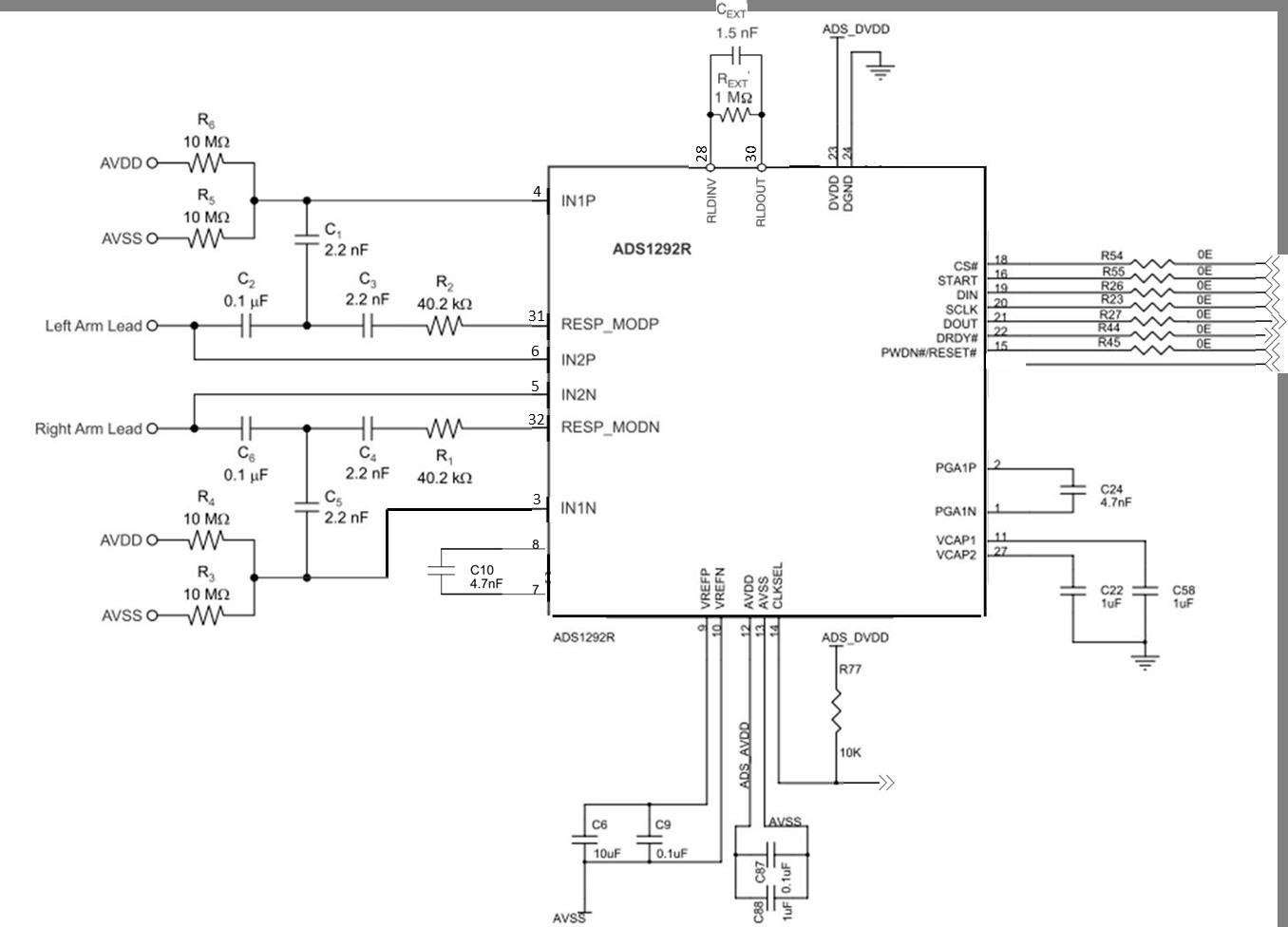 ads1256前端电路
