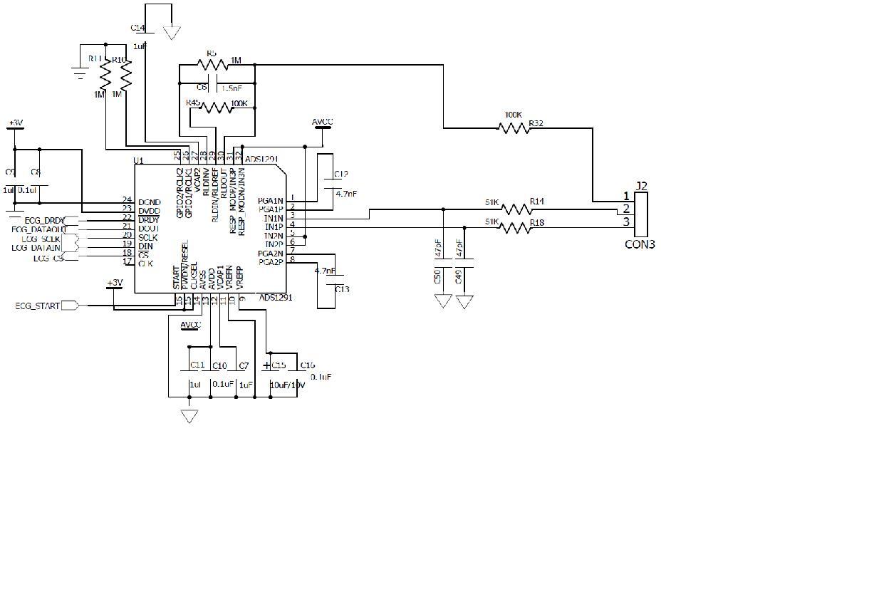 ads1291采集心电,数据不稳问题